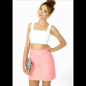 Cameo The Label Nasty Gal Faux Leather Skirt Pink